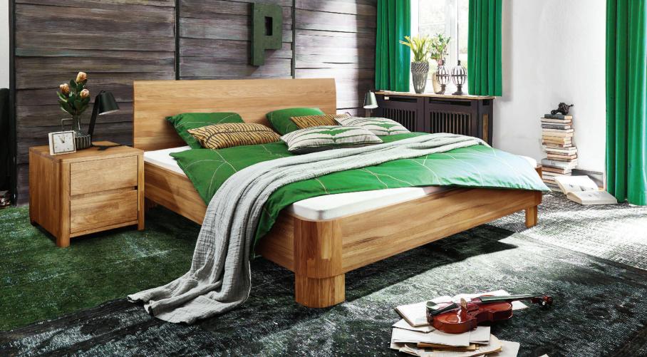 Кровать Лозанна из массива дуба