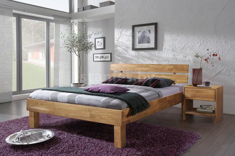 Кровать Джудит из массива дуба