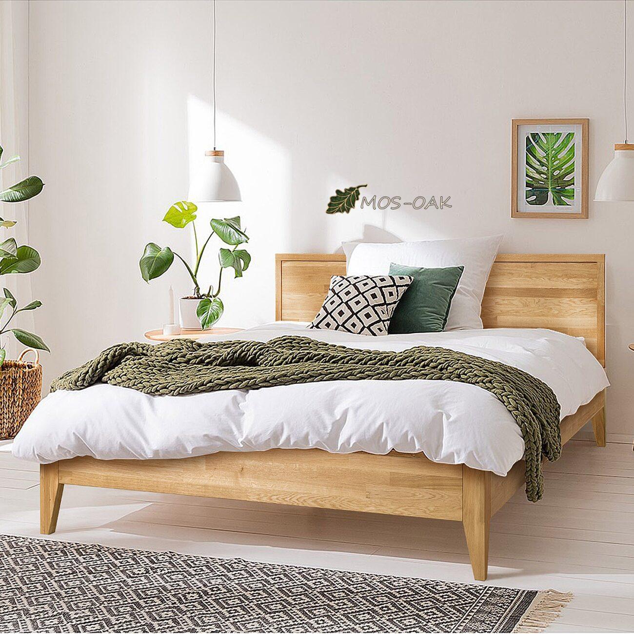 Кровать Руна из массива дуба