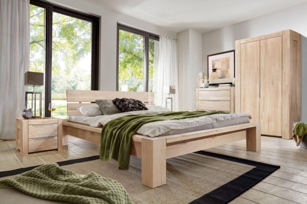 Кровать Фьорд из массива дуба