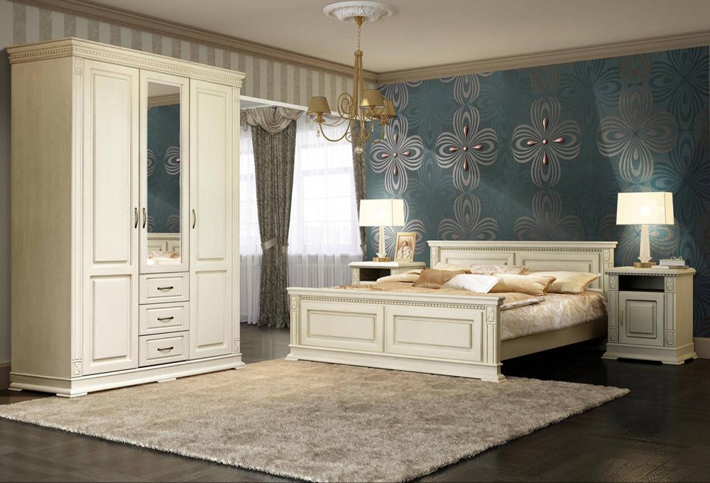 Спальня из массива дуба в стиле «Марселла-В»