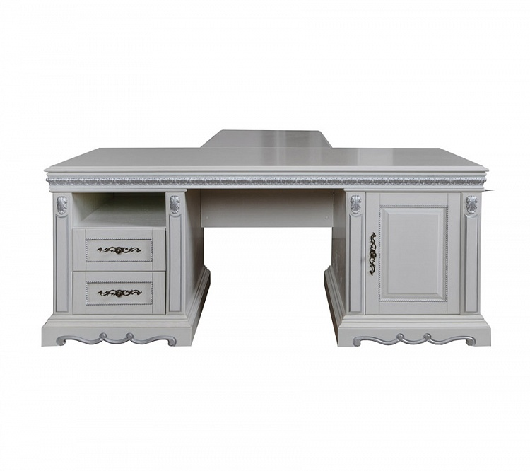 Стол письменный «Марселла» цвет слоновая кость с серебром
