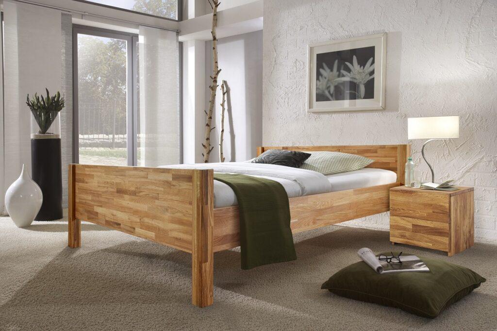 Кровать Ханс из массива дуба