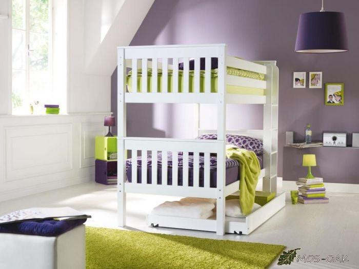 Кровать двухъярусная из массива берёзы