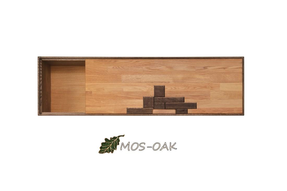 Шкаф навесной Сканди Дизайн 4.1 из массива дуба