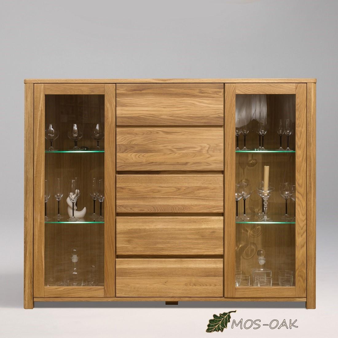 Шкаф комбинированный Лозанна-4 из массива дуба