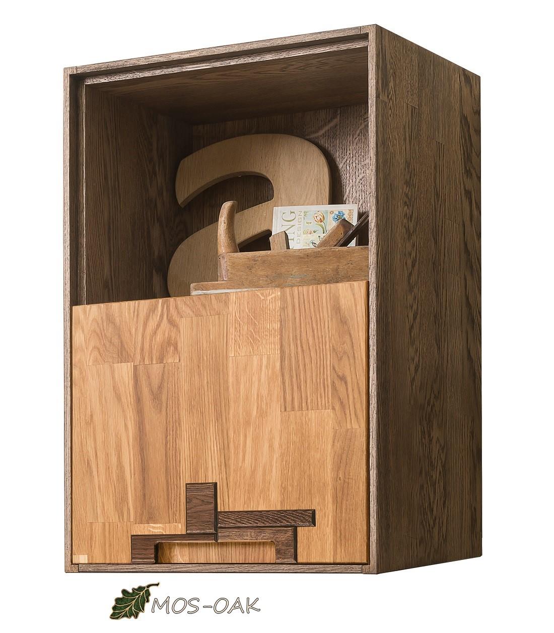 Шкаф навесной Сканди Дизайн 2.1 из массива дуба