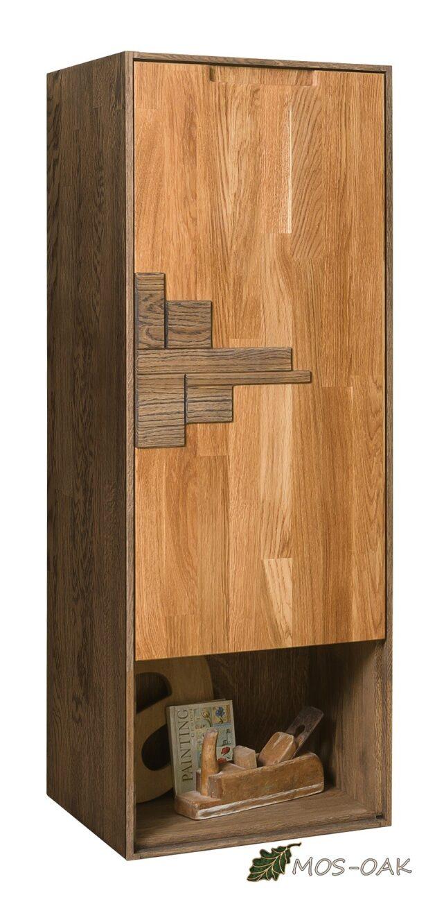 Шкаф навесной Сканди Дизайн 1.1 из массива дуба