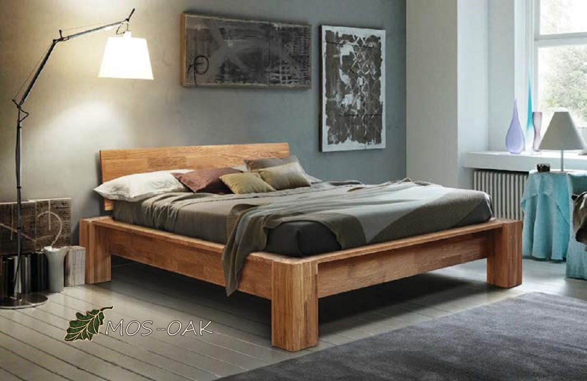 Кровать Стокгольм из массива дуба