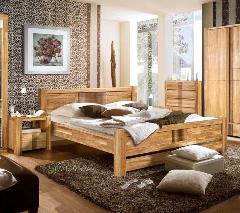 Кровать Валенсия из массива дуба