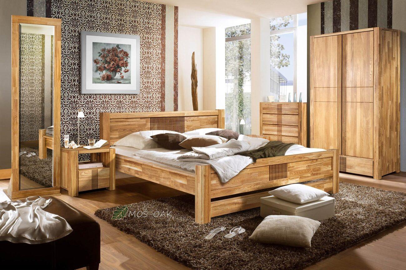 Спальня Валенсия-3 из массива дуба