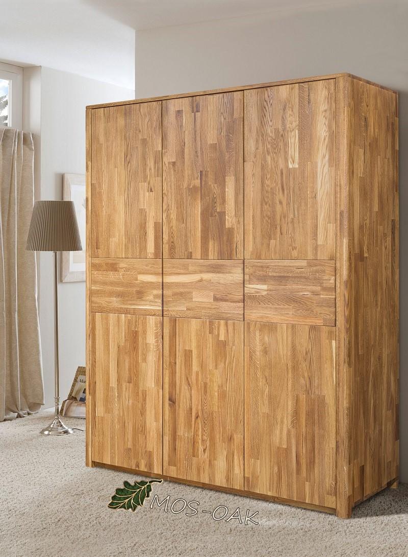 Шкаф 3-х дверный Лозанна из массива дуба