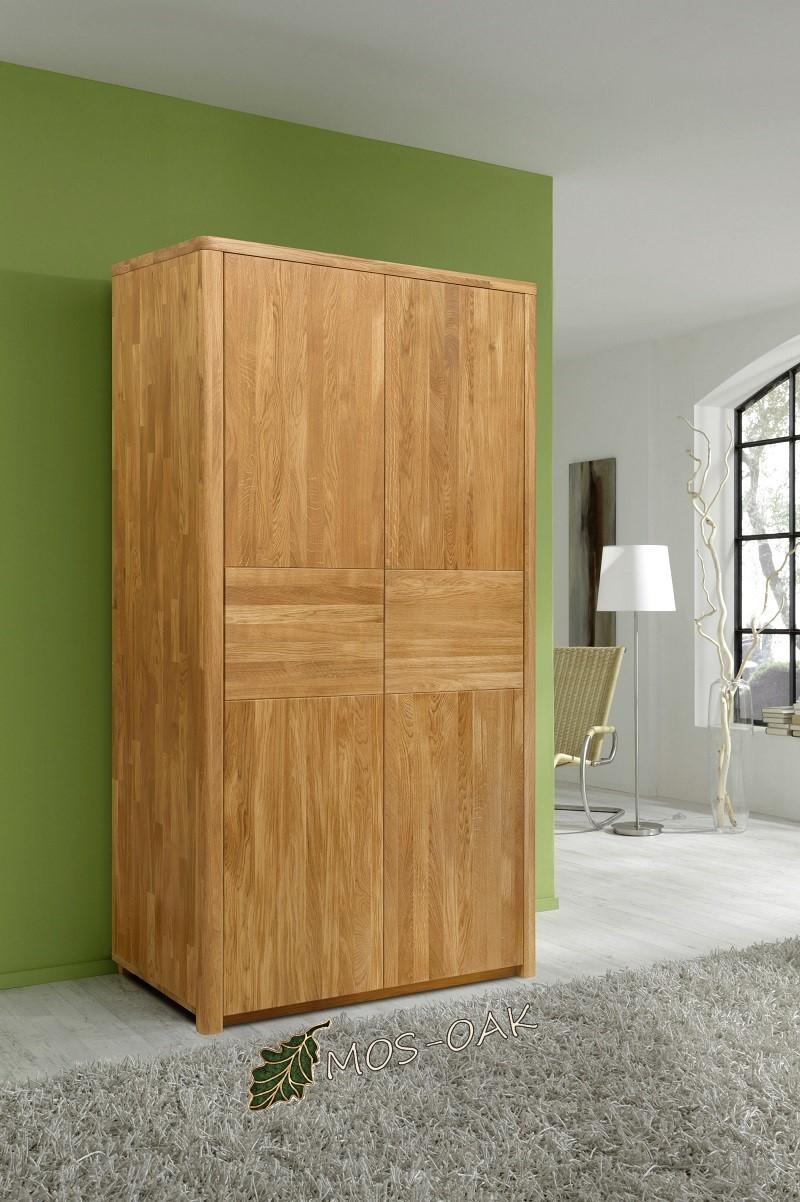 Шкаф 2-х дверный Лозанна из массива дуба