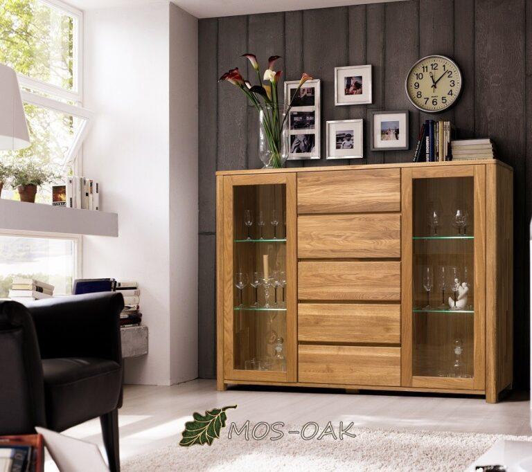 Шкаф комбинированный Лозанна из массива дуба