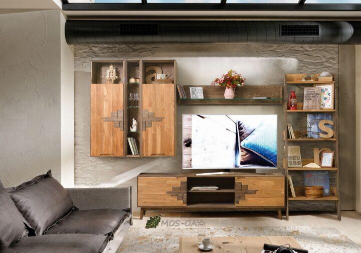 Гостиная Сканди Дизайн-2 из массива дуба