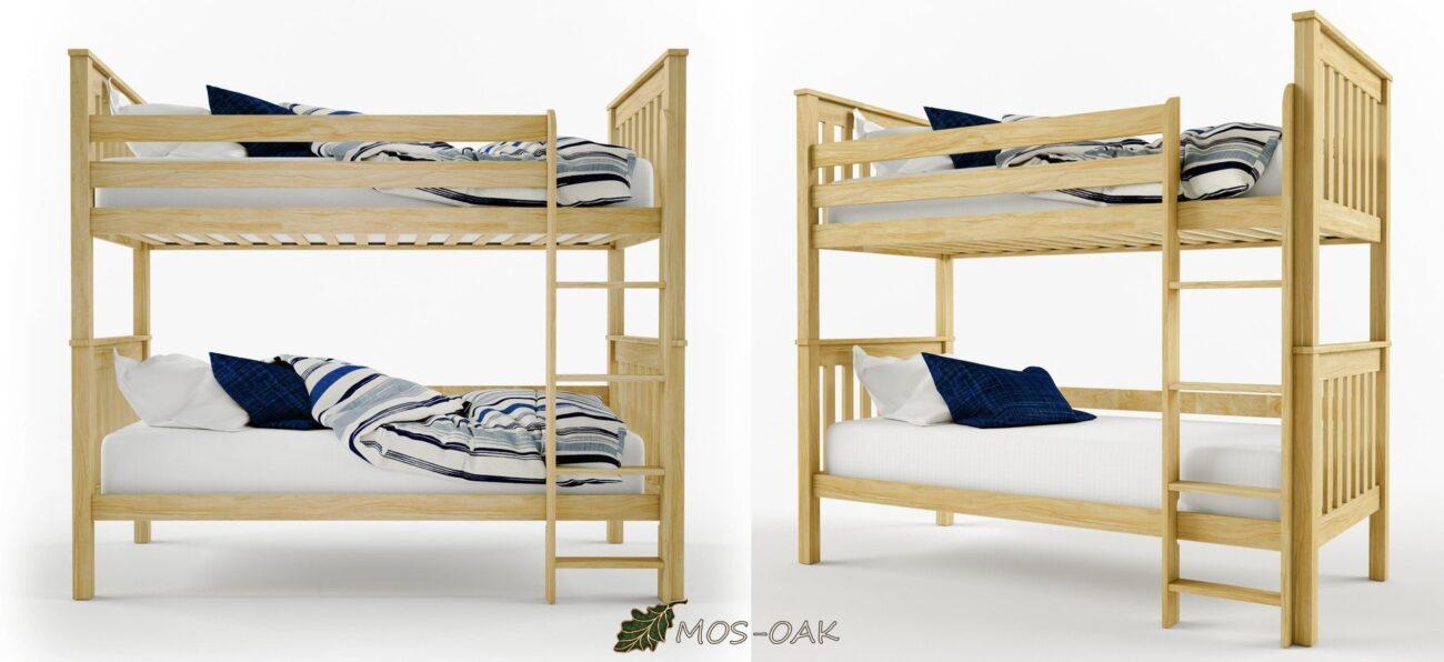 Кровать двухъярусная Кати из массива дуба