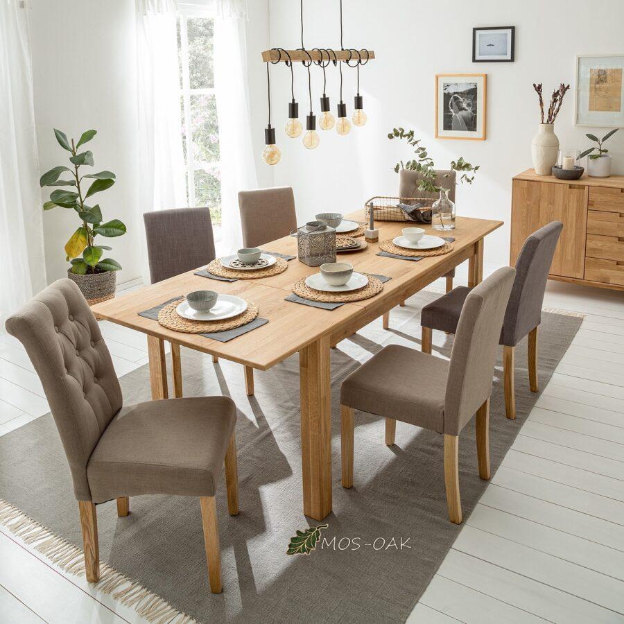 Купить стол обеденный раздвижной из дуба L2