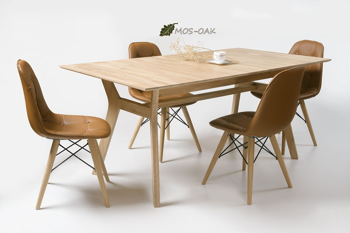 Стол обеденный раздвижной Хельсинки из массива дуба