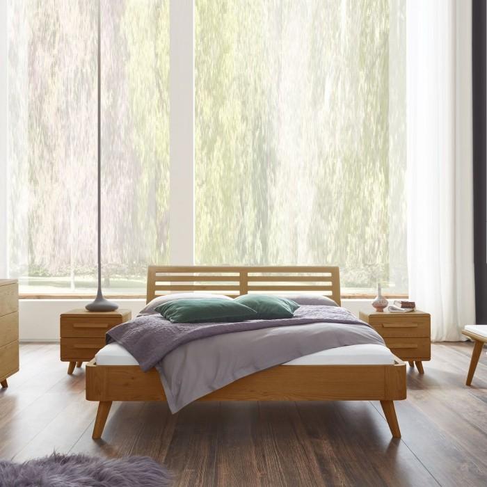 Купить кровать из дуба в скандинавском стиле