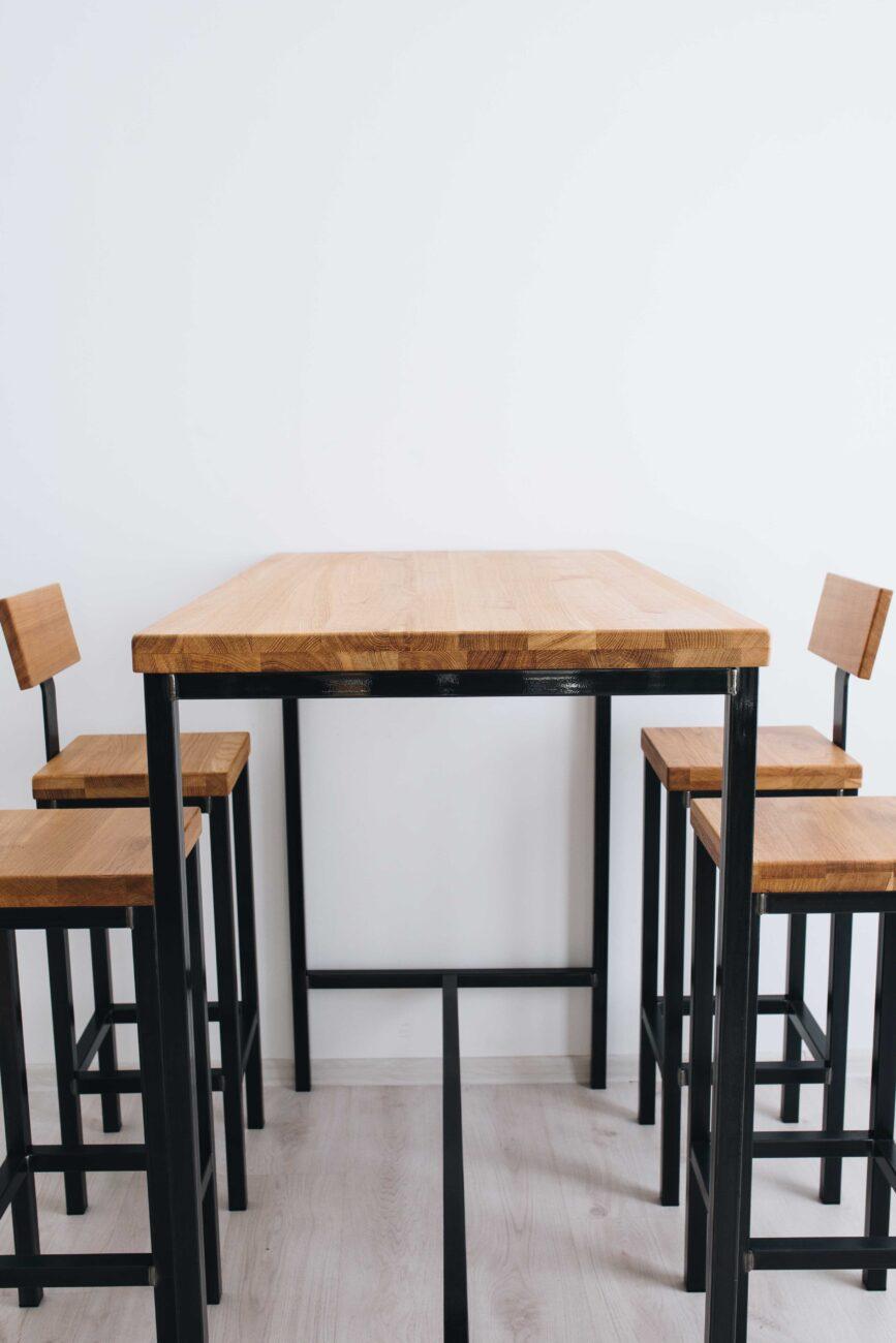 Стол барный из дуба в стиле Лофт купить